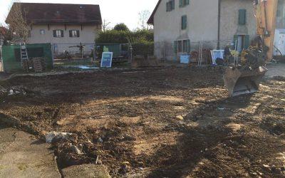 Démolition des anciens bâtiments