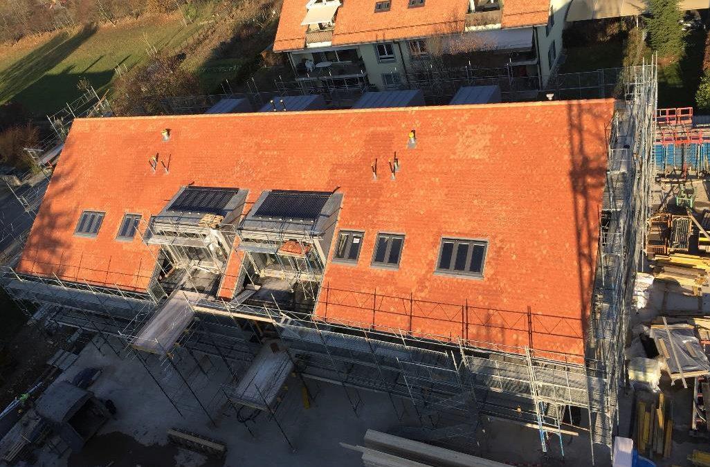 Pose des toitures